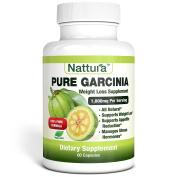 PURE GARCINIA - All Natural, 100% Pure Garcinia Cambogia Formula, 1000mg Garcinia Extract Per Serving - 60 Capsules