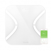 Fat Scale , AnGeer Digital Body Fat Analyzer Bathroom Scale Syncyour Weight Data with the Phone