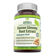 Herbal Secrets Korean Ginseng Root Extract Complex Dietary Supplement with Iron - 120 Vegetable Capsules-supports healthy immune system* Supports overall mental health*