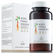 Aged Panax Ginseng Capsules - Ginseng Pills for Energy Boost and Stress Relief - Less Odour - 100% Korean - 30 Capsules - Panax Ginseng Root Extract Supplement - More Effective than American Ginseng