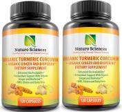 Naturo Sciences Organic Turmeric Curcumin with BioPerine and Ginger