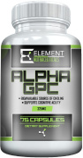 ALPHA GPC (325mg x 75ct) by Element Nutraceuticals - Boost Cognitive Function , Mental Clarity and Focus.