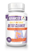 Daily Natural Detox Cleanse for Liver, Kidney, Urinary Tract & Colon - 90 Veggie Herbal Pills to Support Full Body & Healthy Weight Loss System Cleansing for Women & Men