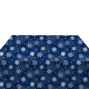 Blue Snowflakes Milliken Polyester Tablecloths - Assorted Sizes