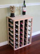 VinoGrotto 24 Bottle Table Wine Rack (Redwood) by VinoGrotto - Exclusive 30cm deep design conceals entire wine bottles. Hand-sanded to perfection!, Redwood