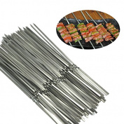 GossipBoy Stainless Steel Metal Shish kebob Skewers Barbecue Skewers BBQ Meat Fish Vegetable Sticks - Good Bargain to Make Delicious Kebob