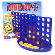 Line Up Four Set by Laeto Toys and Games including Board and Pieces for Kids Children or Adults Traditional Game Sets Ideal Family Perfect Gift Connect 4 in a Row or Line