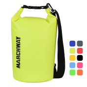 MARCHWAY Floating Waterproof Dry Bag 10L/20L - Protect your Items Safe, Dry, Clean from Kayaking, Rafting, Boating, Camping, Beach, Fishing