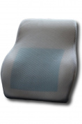 Low Back Pain Cushion by AirGo Products - Memory Foam Pillow With Innovative Cooling Gel Designed By a Chiropractor - Bonus Mesh and Plush Covers