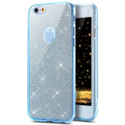 iPhone 6 Plus / 6S Plus Case, PHEZEN [Full Body Coverage] Front and Back 360 Protective Case Bling Glitter Sparkly Shockproof Ultra Thin TPU Silicone Gel Case Cover For iPhone 6/6S Plus 14cm