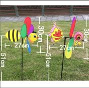 Techinal 3D Large Animal Bee Windmill Wind Spinner Whirligig Yard Garden Decor
