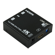LINK-MI S2 1x2 HDMI Splitter Supports 3D 4Kx2K@60Hz(YUV 420) HDCP EDID Supports HDCP2.2 to HDCP1.4
