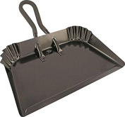 "Edward Tools Extra Large Industrial Metal Dust Pan 17"" - Heavy Duty Powder Coated Steel does not chip or bend - Great for large cleanups - Rubber Grip Loop handle for comfort / hanging"
