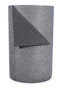 Brady HT303 80cm X 90m SPC Grey 2-Ply Meltblown Polypropylene Dimpled Medium Weight High Traffic Sorbent Roll, Perforated Every 46cm And Up The Centre