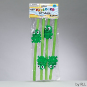 Durable Set of 4 Passover Frog-shaped Straws