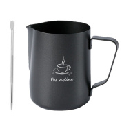 Milk Frothing Pitcher Stainless Steel Teflon Non-Stick Coating frothing Cup With Latt Art Pen