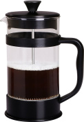 French Coffee Press (Black) - 1010ml Espresso and Tea Maker with Triple Filters, Stainless Steel Plunger and Heat Resistant Glass – by Utopia Kitchen
