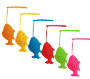 6pcs Food Grade Silicone Fish Tea Infuser,Best Gift For Fishing Enthusiast