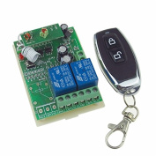 2 Channels Wireless Relay Remote Control Switch Waterproof Receiver RF DC 24V