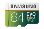 for Samsung 64GB 100MB/s (U3) MicroSDXC EVO Select Memory Card with Adapter