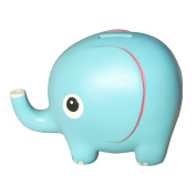 Eastyle 12cm Cute Elephant Piggy Bank Toy Bank Money Bank for Kids Birthday Gift Blue