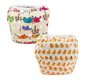 JT-Amigo Reusable Baby Swim Nappy Nappies (Pack of 2), Set 2