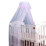 Beautylife66 Baby Mosquito Curtain Dome Mosquito Net Bed Canopy Netting Pink