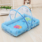 Breathable Baby Mosquito Nets Summer Baby Mosquito Nets Folding Mosquito Nets Super Soft Baby Mosquito Nets(Blue , Pink)