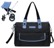 NBB Baby's Nappy Bag with Changing Pad Black/Blue