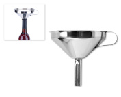 DSstyles 12cm Stainless Steel Funnel Kitchen Funnel Cooking Funnel With Removable Strainer Filter