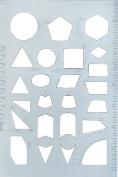 Westcott Geometry Template, Grey