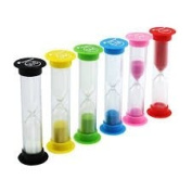 Colourful Hourglass With Various Timings | Sandglass Sand Clock Timers | 30S+1M+2M+3M+5M+10M by DURSHANI