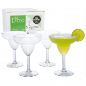 Unbreakable Margarita Glasses - 100% Tritan - Shatterproof, Reusable, Dishwasher Safe