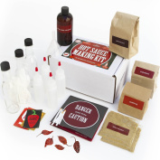Deluxe Hot Sauce Kit (Ghost Peppers 5X!!!) Featuring Heirloom Peppers From 5th Generation Farmers, A Full Set Of Recipes, Storing Bottles & More!
