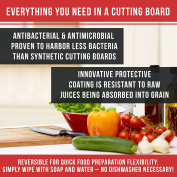 Chef Remi Cutting Board - Lifetime Replacement Warranty - Best Rated Hardwood Chopping Block - Large 41cm x 25cm Kitchen Tool - Stronger Than Plastic Ware Or Bamboo Appliances - Approved By Butchers