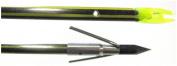 Cajun Bowfishing Piranha Long Barb-Yellow Jacket Arrow with Slide