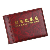 60 Coins Collectors Booklet, Red