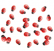 100x Da.Wa Miniature Fairy Garden Ladybugs Sticker Ornament Home Decoration Outdoor