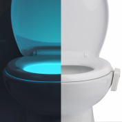 Toilet Night Light, Motion Activated Toilet Night Light (8 Changing Colours) IMPROVED VERSION LED Toilet Bowl Night Lights with Motion Sensor by DELAMU