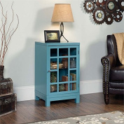 Sauder Carson Forge Accent Curio Cabinet in Moody Blue