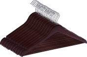 Premium Quality Wooden Hangers - Suit Hangers - (Pack of 20) - by Utopia Home