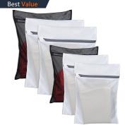 6 Pack Laundry Bag Delicates Mesh Wash Bag For Hosiery, Underwear, Bra ,Garment Lingerie Effective Protection Travel Storage Organise Zipped Drying Machine Washing Bag