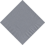 50 Plain Solid Colours Luncheon Dinner Napkins Paper - Silver