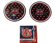 University of Auburn Tigers Party Bundle 18cm Plates (16) Beverage Napkins