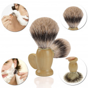 Shaving Brush. 100% Pure Badger ULG Omega Silvertip Hair with Hard WoodHandle Synthetic Engineered to deliver the Best Shave of Your Life Safety