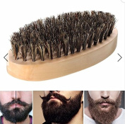Boar Bristle Thickest Beard Taming Brushing Wooden Palm Brush by Rubyshop