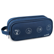 Inateck Portable Digital Storage Bag/ Electronics Accessories Travel Organiser / Carry Case for Cables, Memory cards, Hard Drive, Adapter and More - Blue