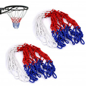 Gankarii® 2 Pcs 12 Loop Standard Strong and Durable Nylon Braided Multicolor Basketball Net for Outdoors or Indoors Sports