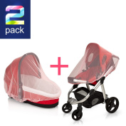 SUPER LIGHT WEIGHT PINK Baby Mosquito Net for Strollers, Carriers, Car Seats cover ,Cradles,beds. Fits Most PacknPlays, Cribs, Bassinets & Playpens ,Portable & Durable ,Insect Netting