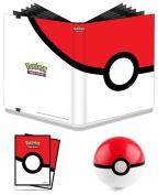 Pokemon Pokeball 9 Pocket Full-View PRO Binder Album + 65 Poke Ball Sleeves + PokeBall Toy
